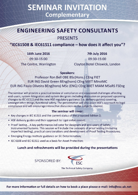 IEC61508 and IEC61511 compliance seminar