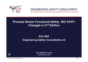 Changes in IEC 61511 2nd Edition - Ron Bell