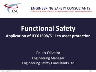 Application of IEC61508 & IEC61511 to asset protection
