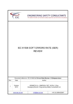 IEC 61508 Soft Errors Rate Review - White Paper - K Simpson