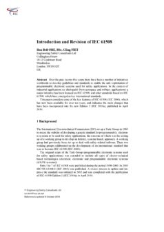 Introduction and Revision of IEC 61508 (October 2014)