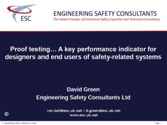 Proof testing … A key performance indicator for designers and end users of safety-related systems