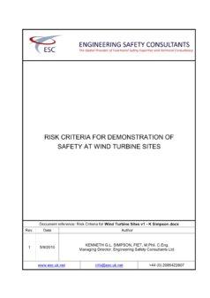 Risk Criteria for Wind Turbine Sites - White Paper - K Simpson