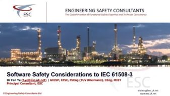 Software Safety Considerations to IEC61508-3 Webinar by Fan Ye