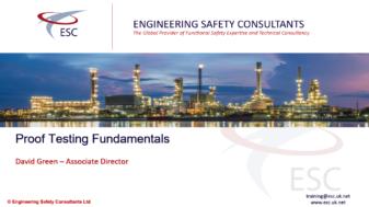 Proof Testing Fundamentals Webinar - Engineering Safety Consultats