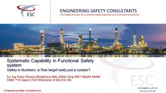 Systematic Capability in Functional Safety - Webinar