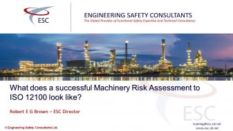 What Does a Successful Machinery Risk Assessment to ISO 12100 Look Like - Webinar